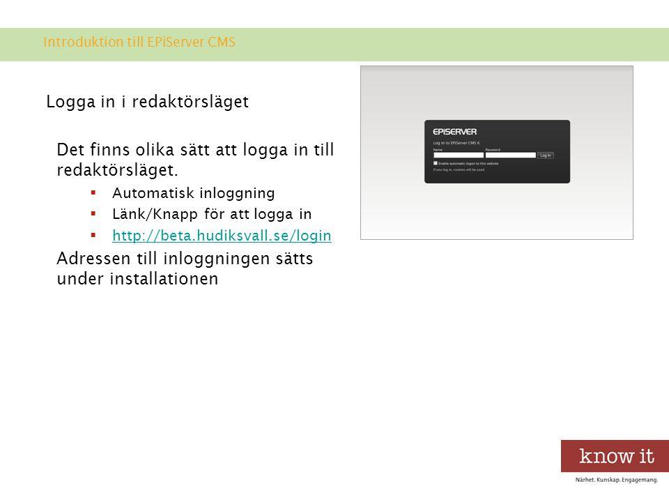 EPiServer OnlineCenter