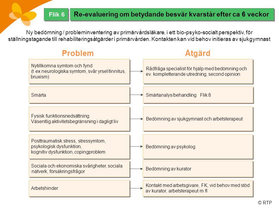 © RTP Ny bedömning / probleminventering av primärvårdsläkare, i ett bio-psyko-socialt perspektiv, för ställningstagande till rehabiliteringsåtgärder i