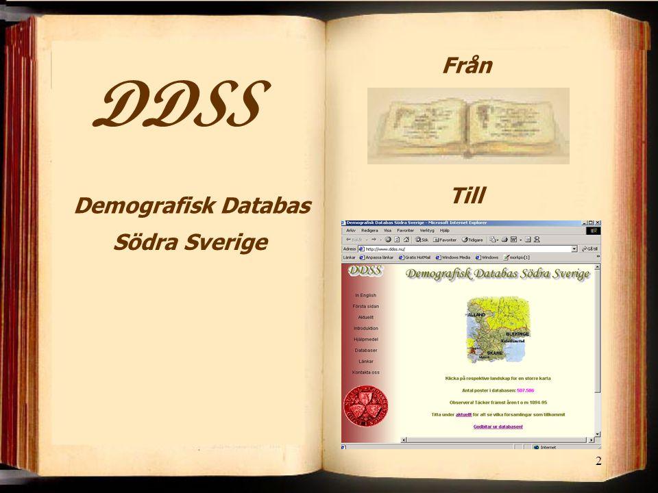 2 Södra Sverige Demografisk Databas Från Till
