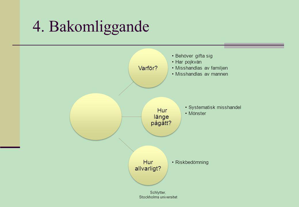 4.Bakomliggande Schlytter, Stockholms universitet Varför.