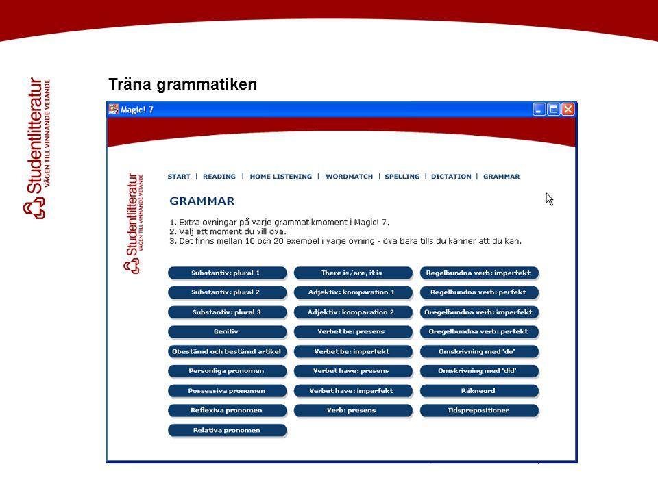 Träna grammatiken