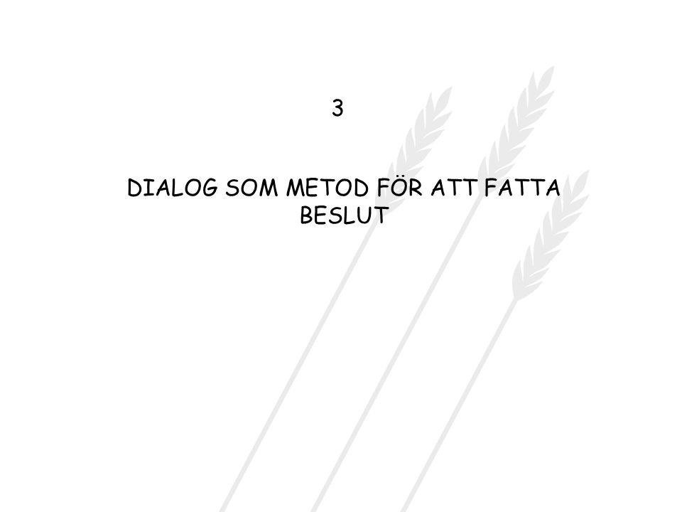 DIALOG SOM METOD FÖR ATT FATTA BESLUT 3