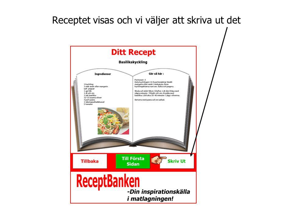 Receptportalen ReceptBanken administreras lätt via en webbsida.