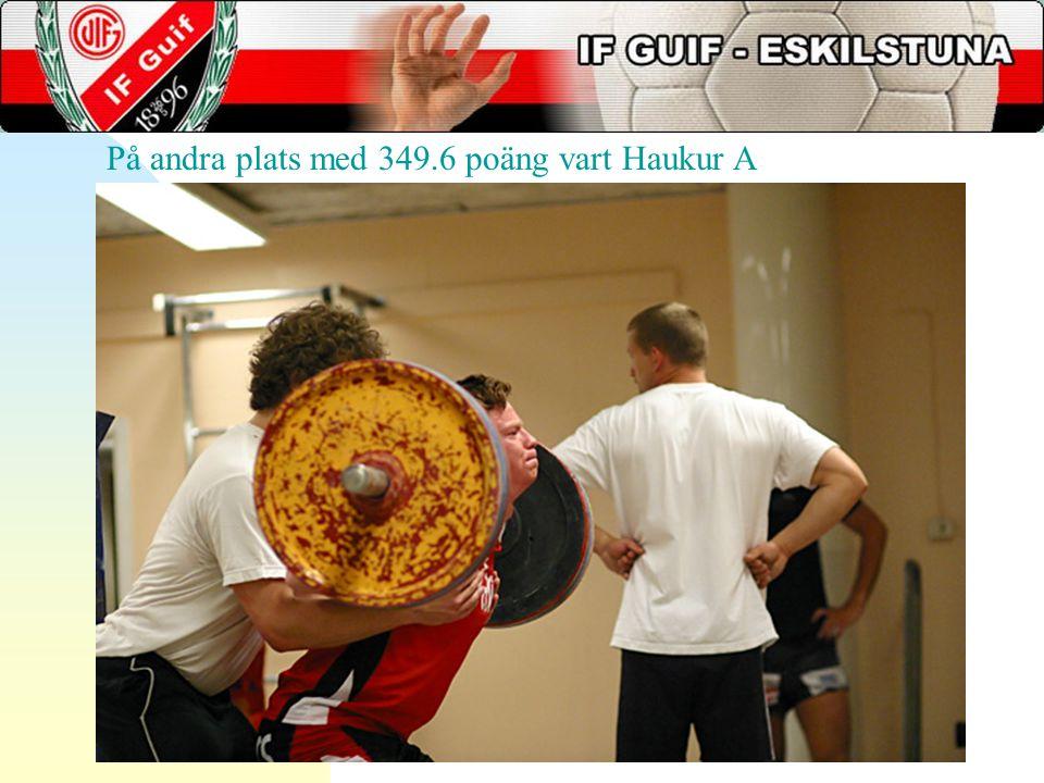 På andra plats med 349.6 poäng vart Haukur A