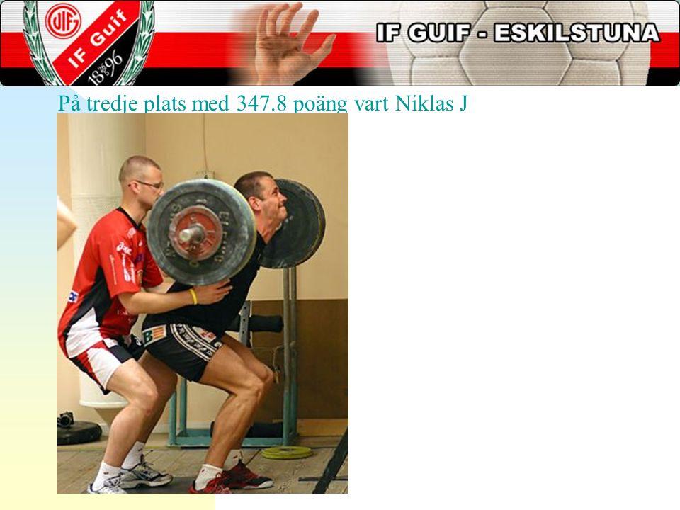 På tredje plats med 347.8 poäng vart Niklas J
