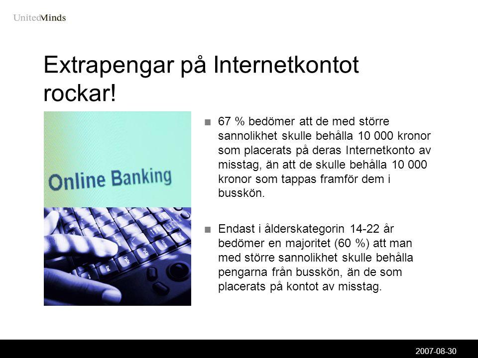 2007-08-30 Extrapengar på Internetkontot rockar.