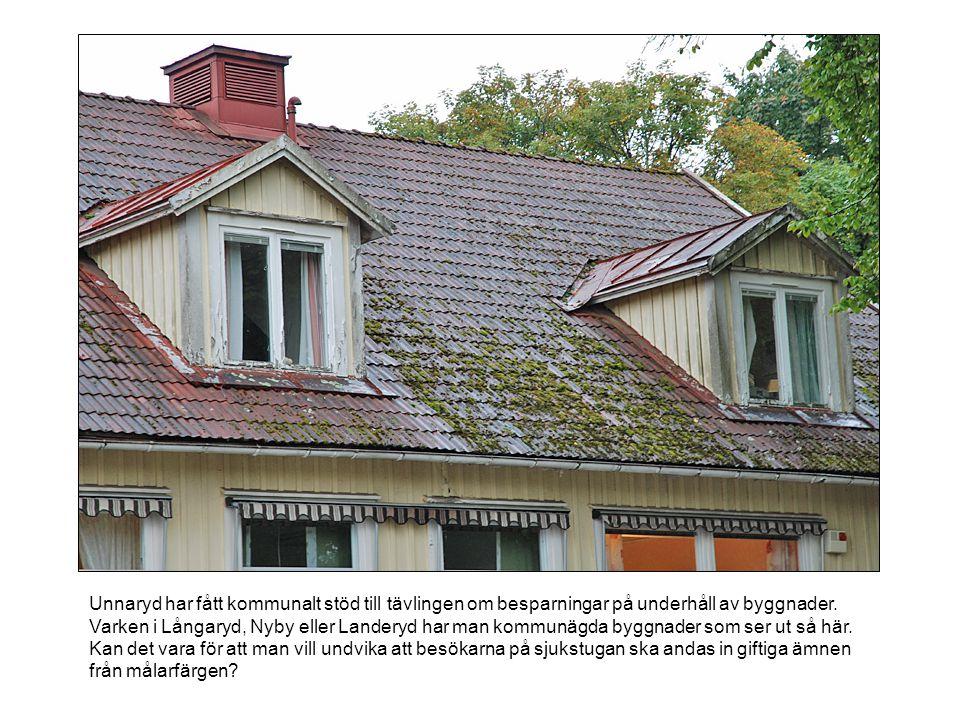 Unnaryd har fått kommunalt stöd till tävlingen om besparningar på underhåll av byggnader. Varken i Långaryd, Nyby eller Landeryd har man kommunägda by