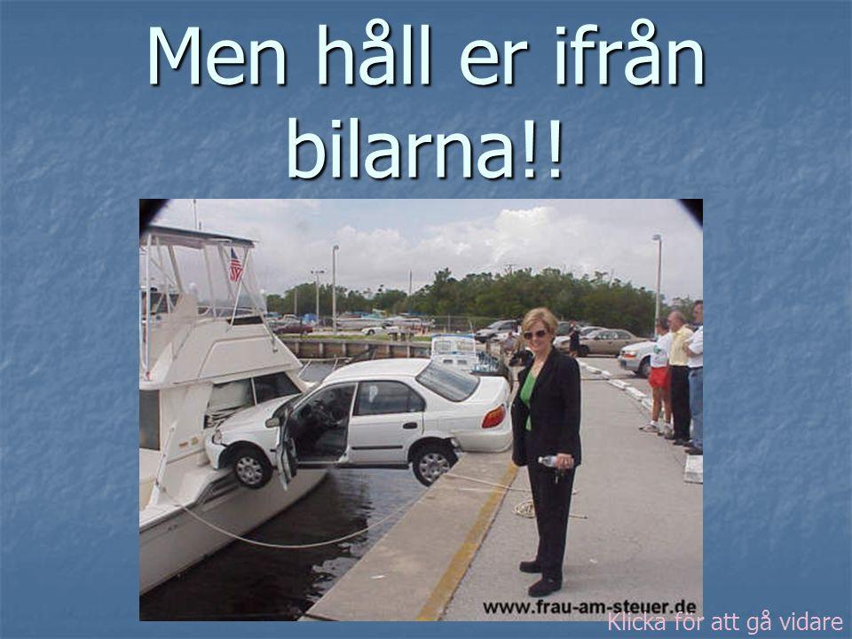Men håll er ifrån bilarna!! Klicka för att gå vidare
