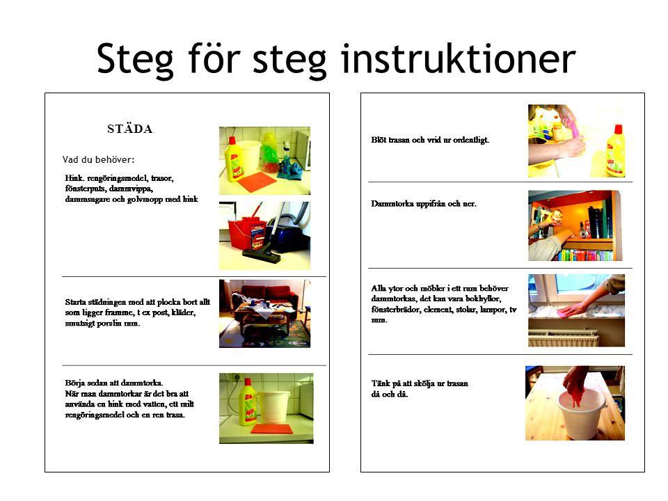 Steg för steg instruktioner STÄDA Vad du behöver: