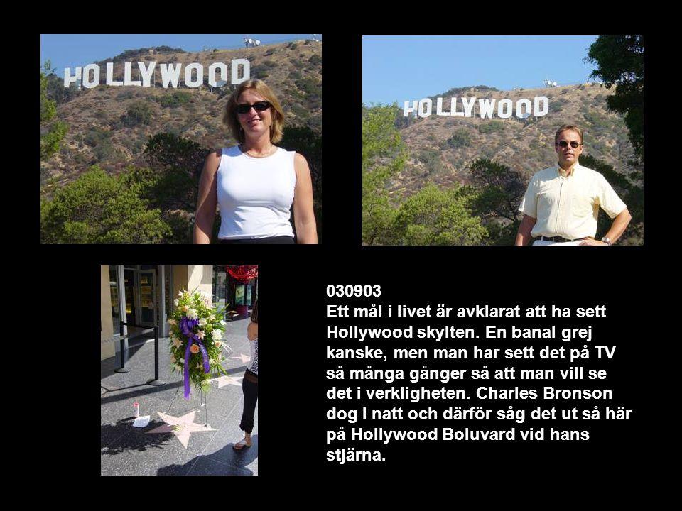 Text Box 030903 Ett mål i livet är avklarat att ha sett Hollywood skylten.