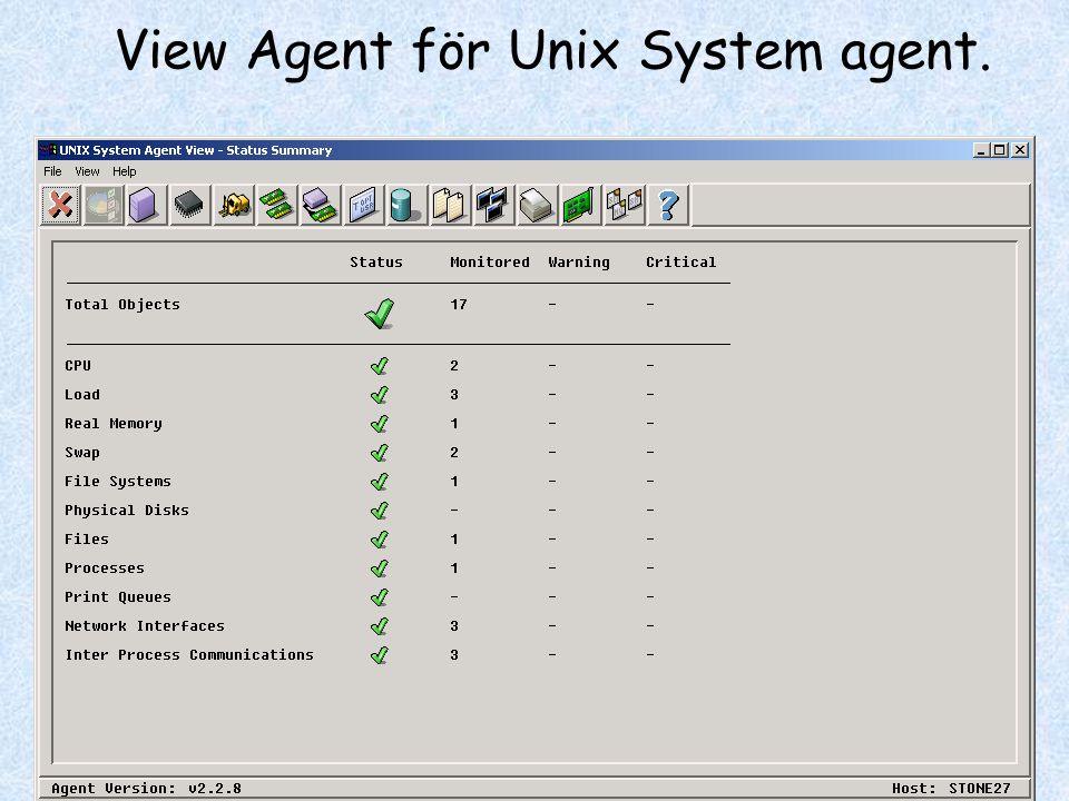 View Agent för Unix System agent.