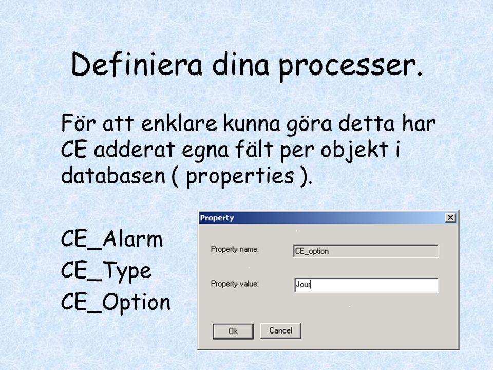 Definiera dina processer.