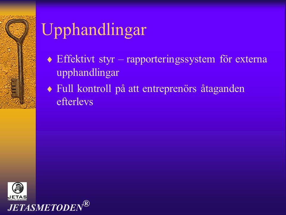 Tjänster  Inventering  Programmering  Etikettering  Utbildning JETASMETODEN ®