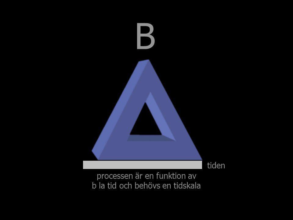 tiden B processen är en funktion av b la tid och behövs en tidskala