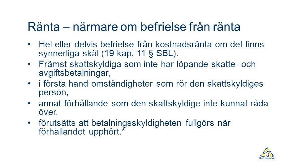 Anstånd – grundläggande förutsättningar •Beslut enligt SFL gäller omedelbart (68 kap.