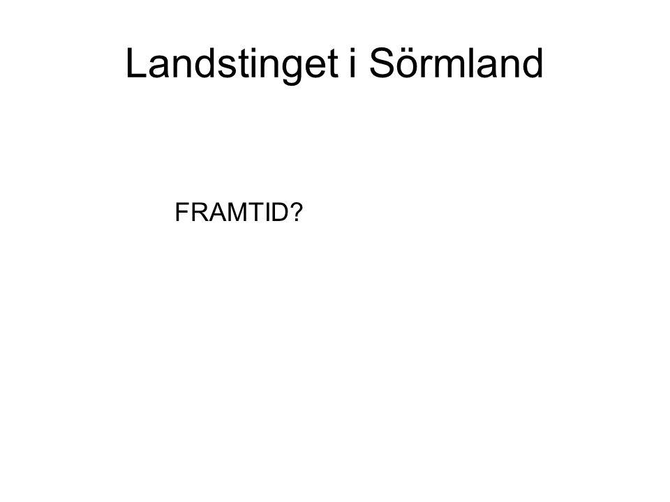 Landstinget i Sörmland FRAMTID?