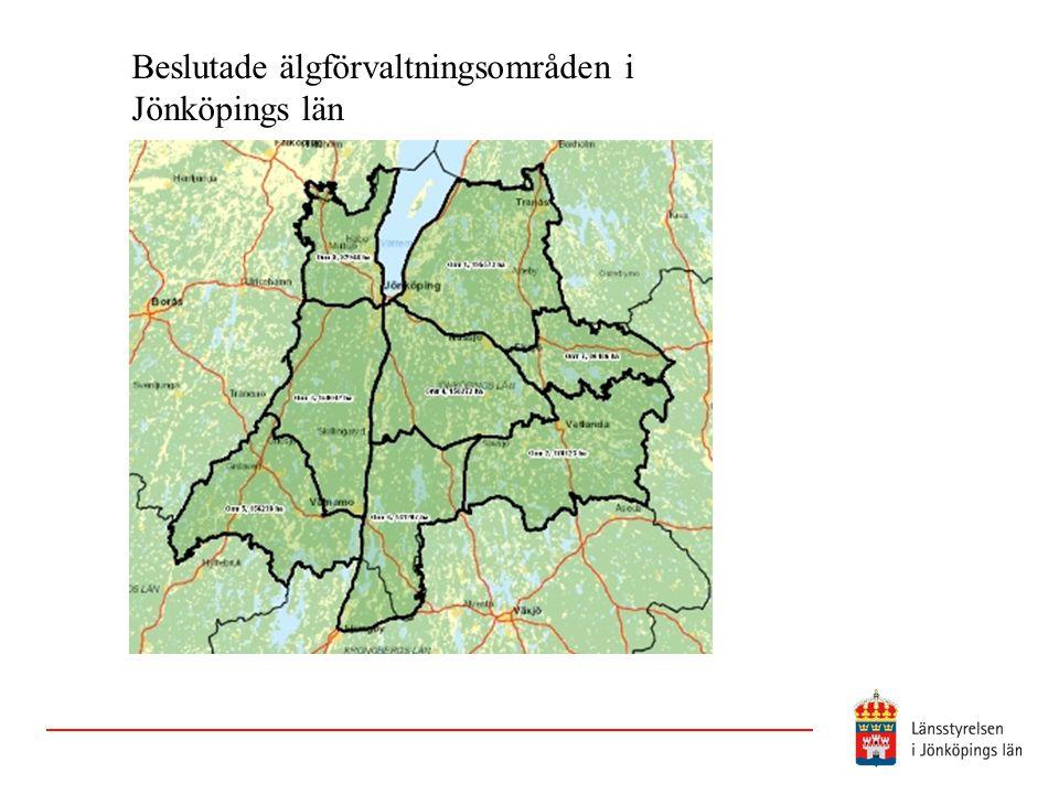 Beslutade älgförvaltningsområden i Jönköpings län