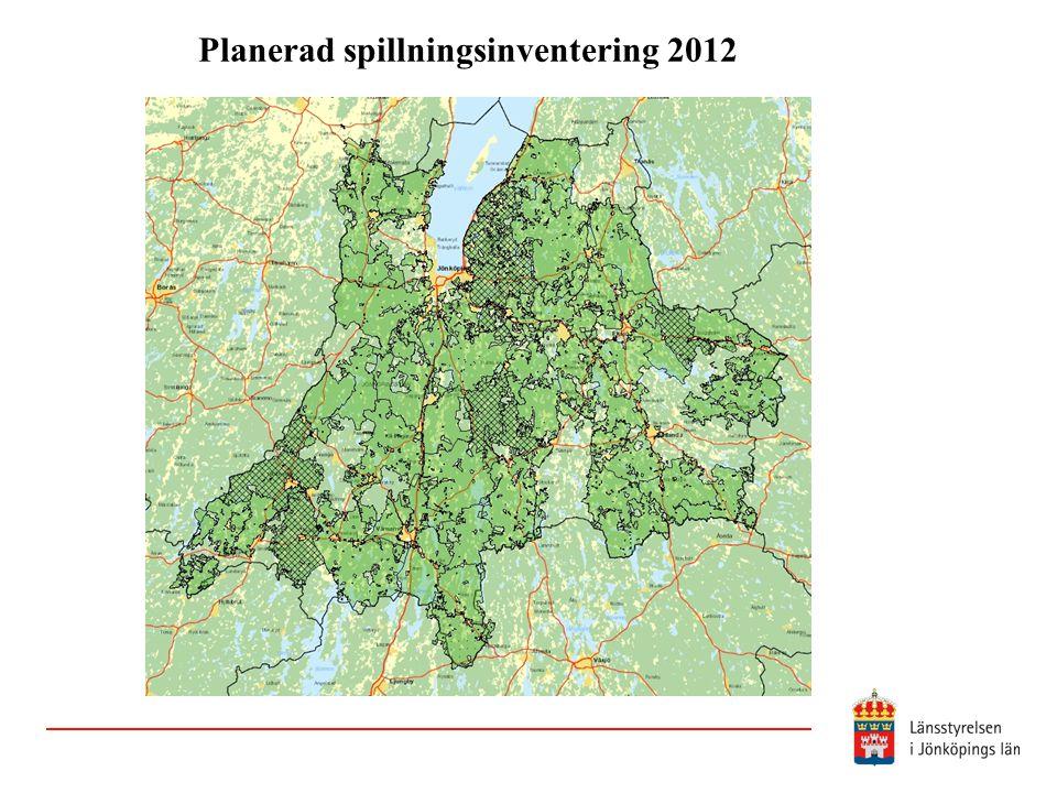 Planerad spillningsinventering 2012
