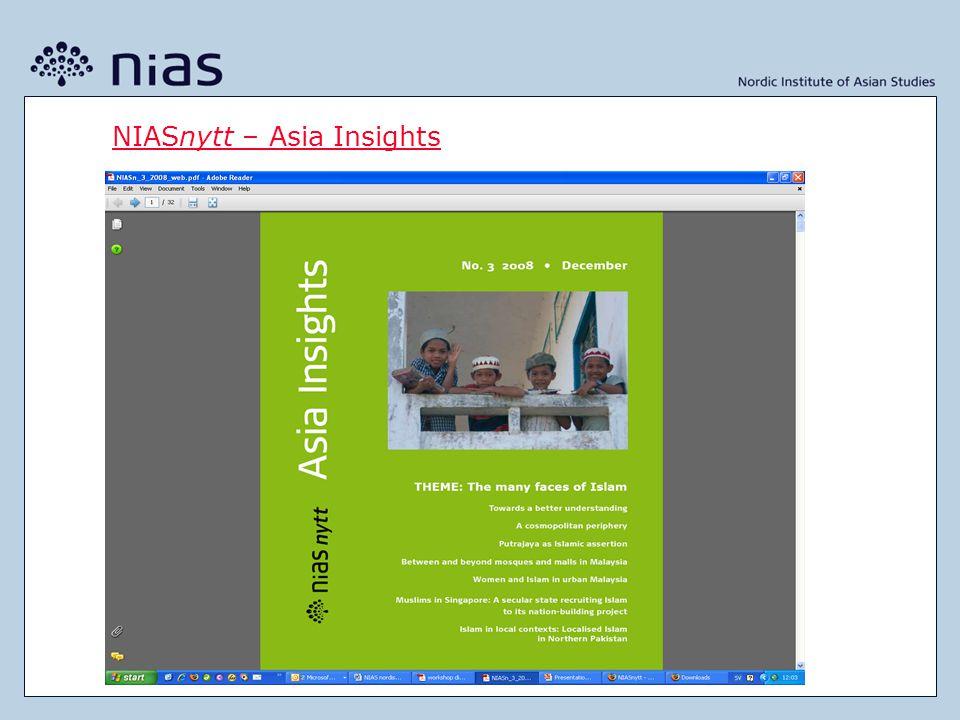 NIASnytt – Asia Insights