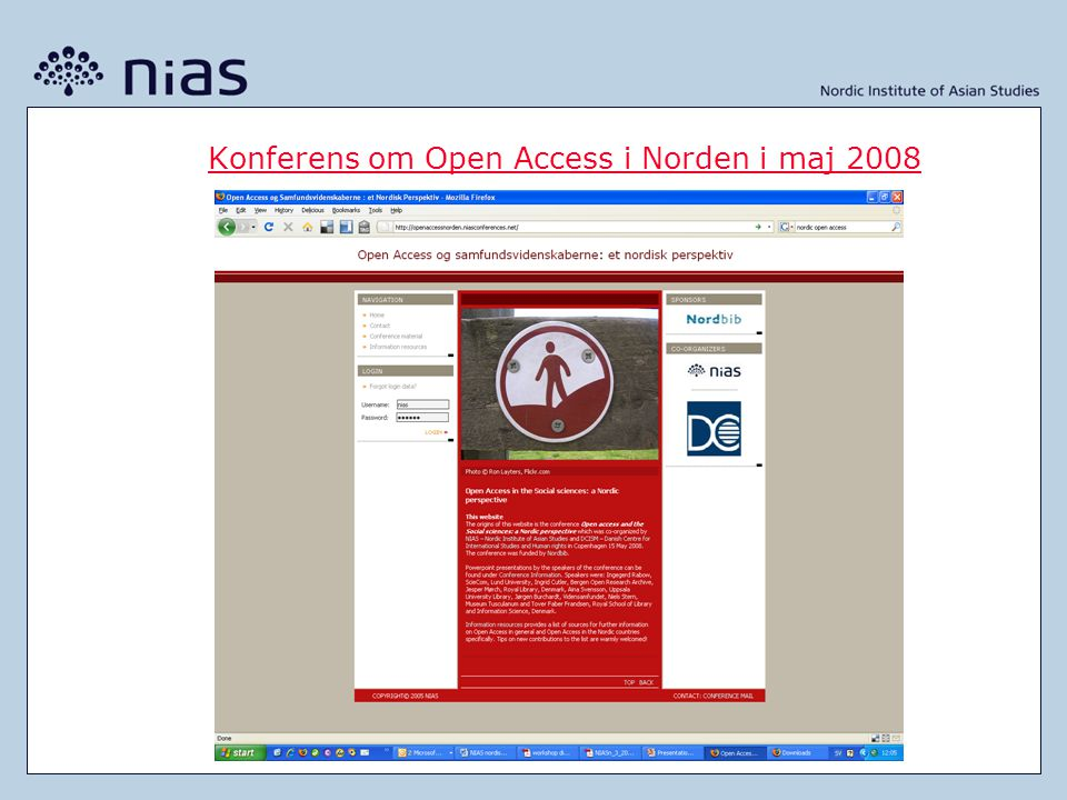 Konferens om Open Access i Norden i maj 2008