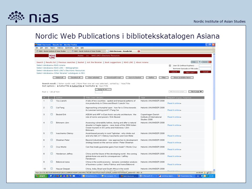 AsienportalenAsienportalen – en plattform för asienforskning i Norden