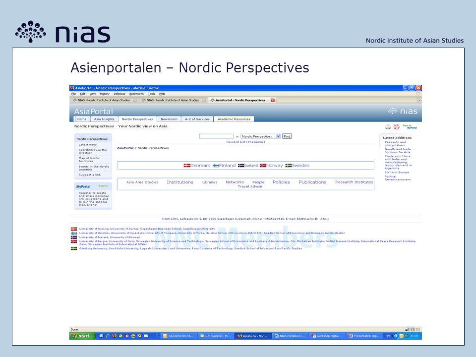 Asienportalen – Nordic Perspectives