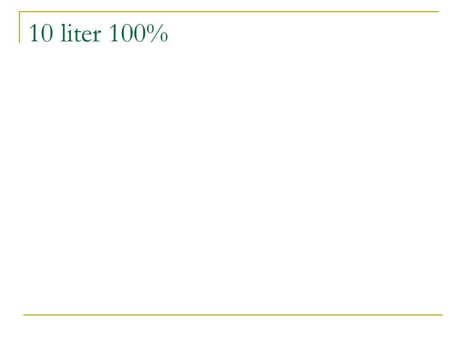 10 liter 100%