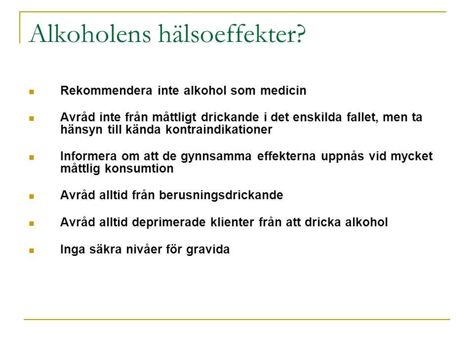 Alkoholens hälsoeffekter.