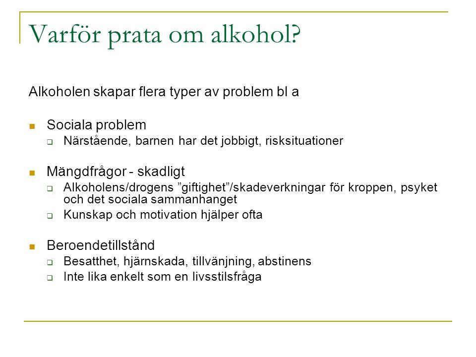 Varför prata om alkohol.