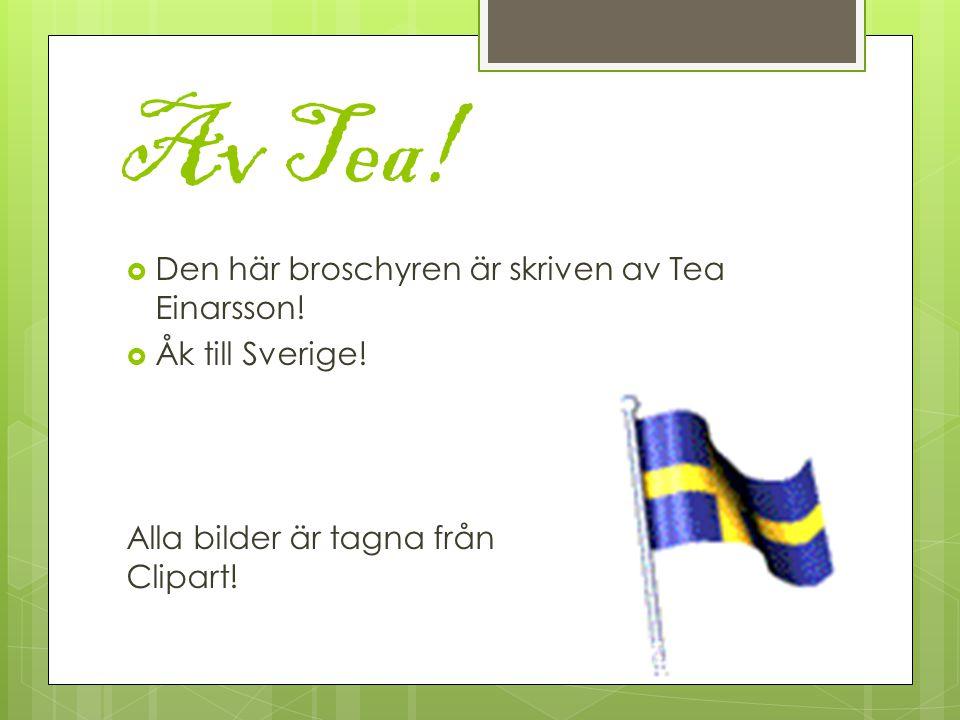 Av Tea. Den här broschyren är skriven av Tea Einarsson.