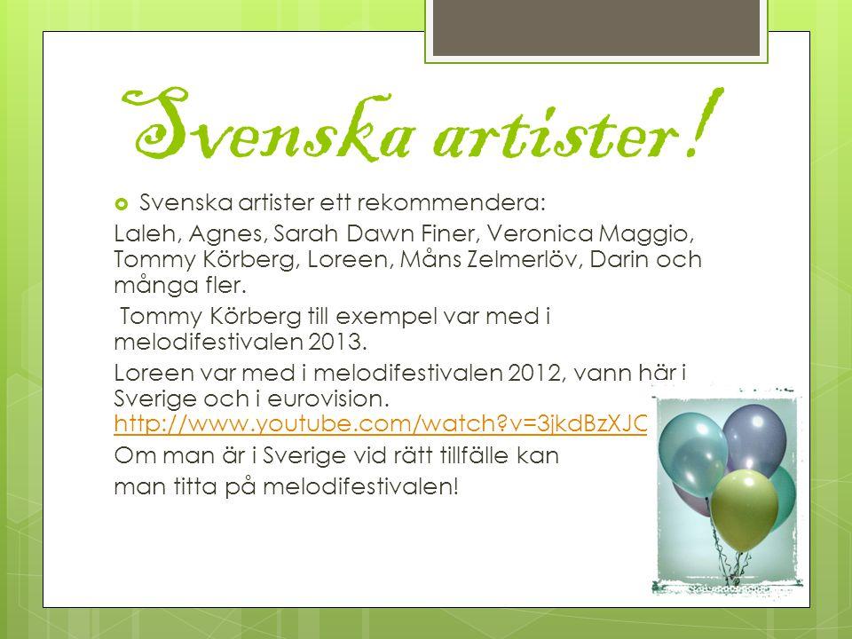 Svenska artister.