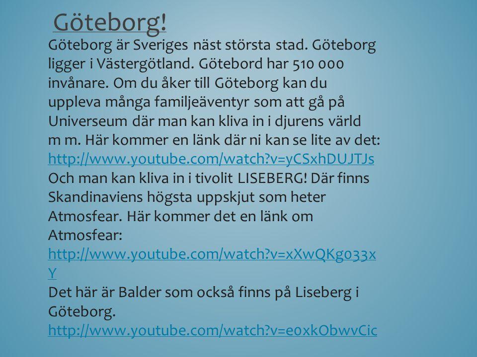 Välkommen till Sverige!!
