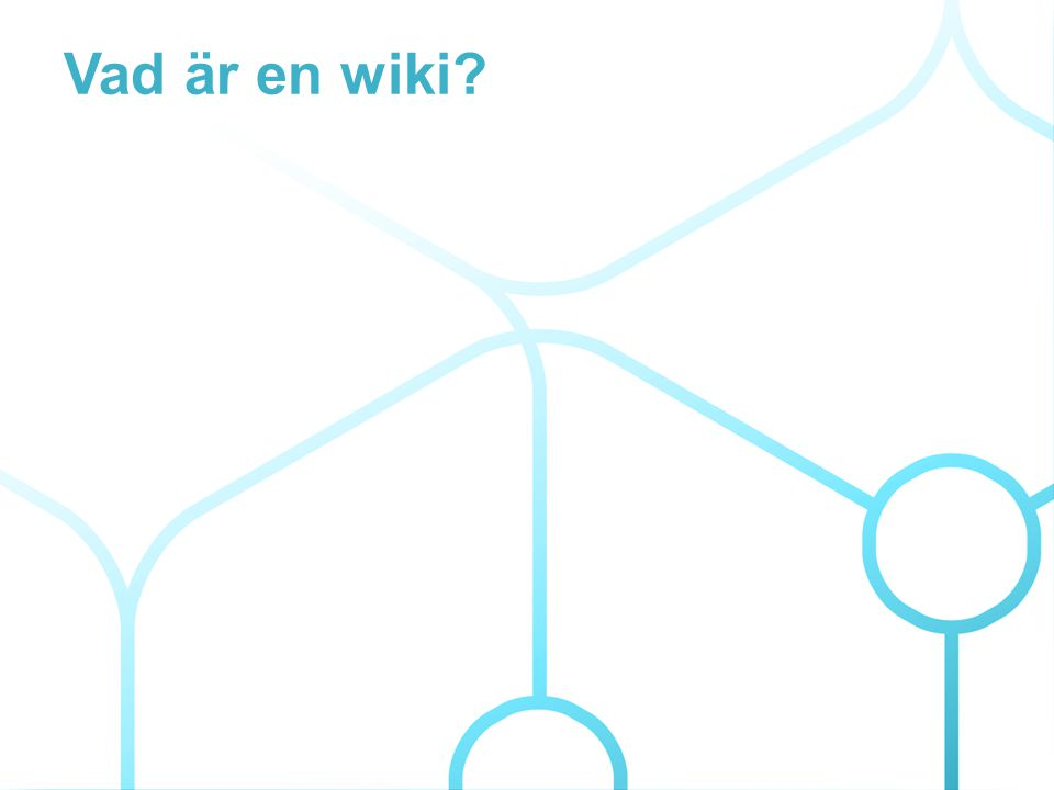 Vad är en wiki?