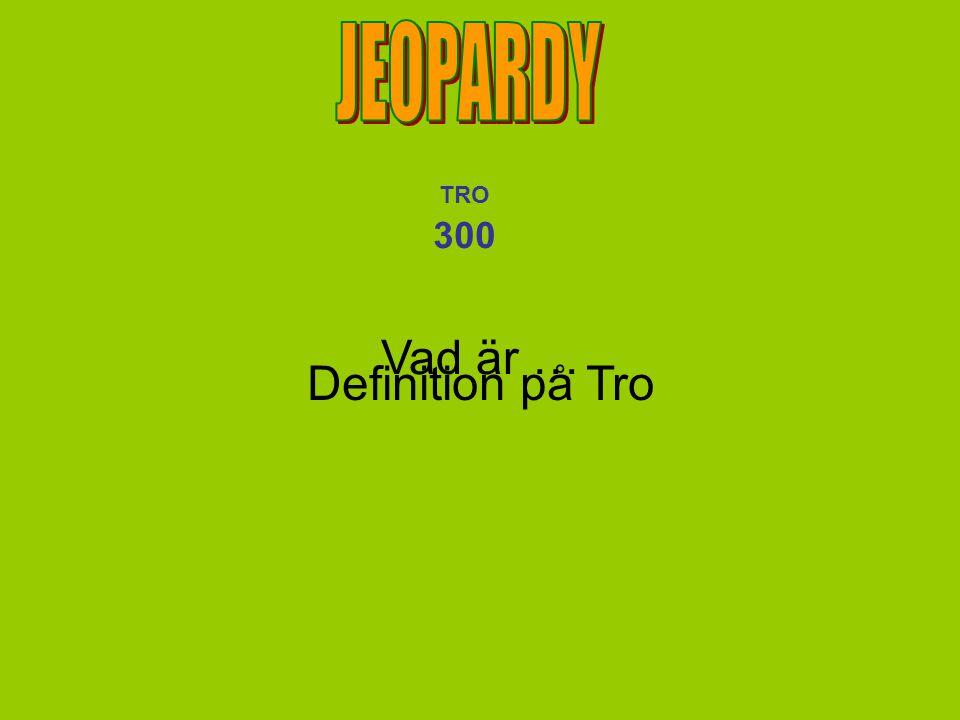 Vad är … Definition på Tro TRO 300