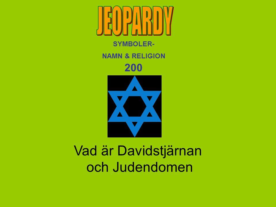 Vad är Davidstjärnan och Judendomen SYMBOLER- NAMN & RELIGION 200