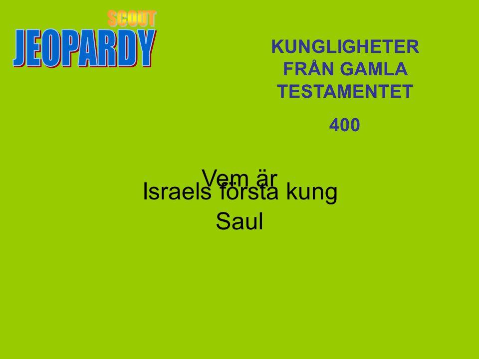 Vem är Saul KUNGLIGHETER FRÅN GAMLA TESTAMENTET 400 Israels första kung