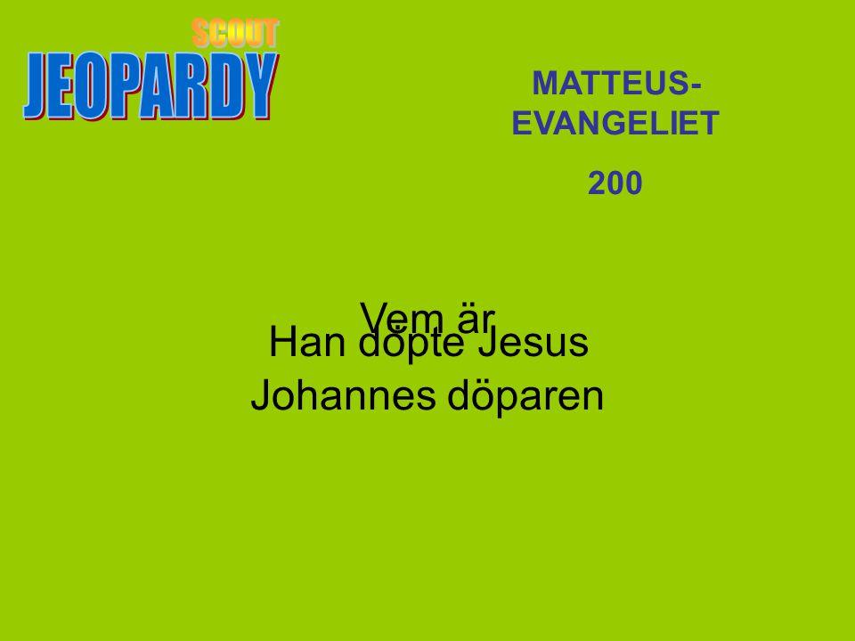Vem är Johannes döparen MATTEUS- EVANGELIET 200 Han döpte Jesus