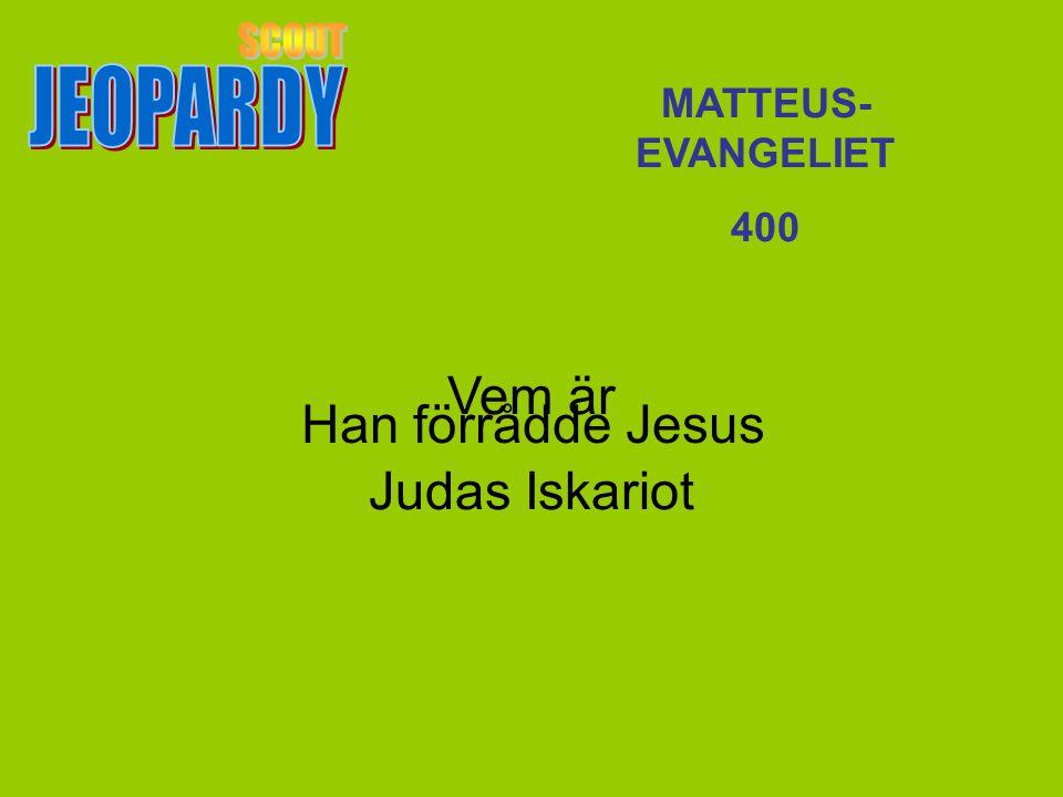 Vem är Judas Iskariot MATTEUS- EVANGELIET 400 Han förrådde Jesus