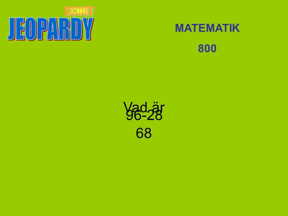 Vad är 68 MATEMATIK 800 96-28