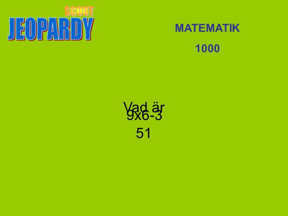 Vad är 51 MATEMATIK 1000 9x6-3