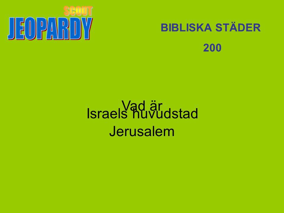 Israels huvudstad BIBLISKA STÄDER 200 Vad är Jerusalem