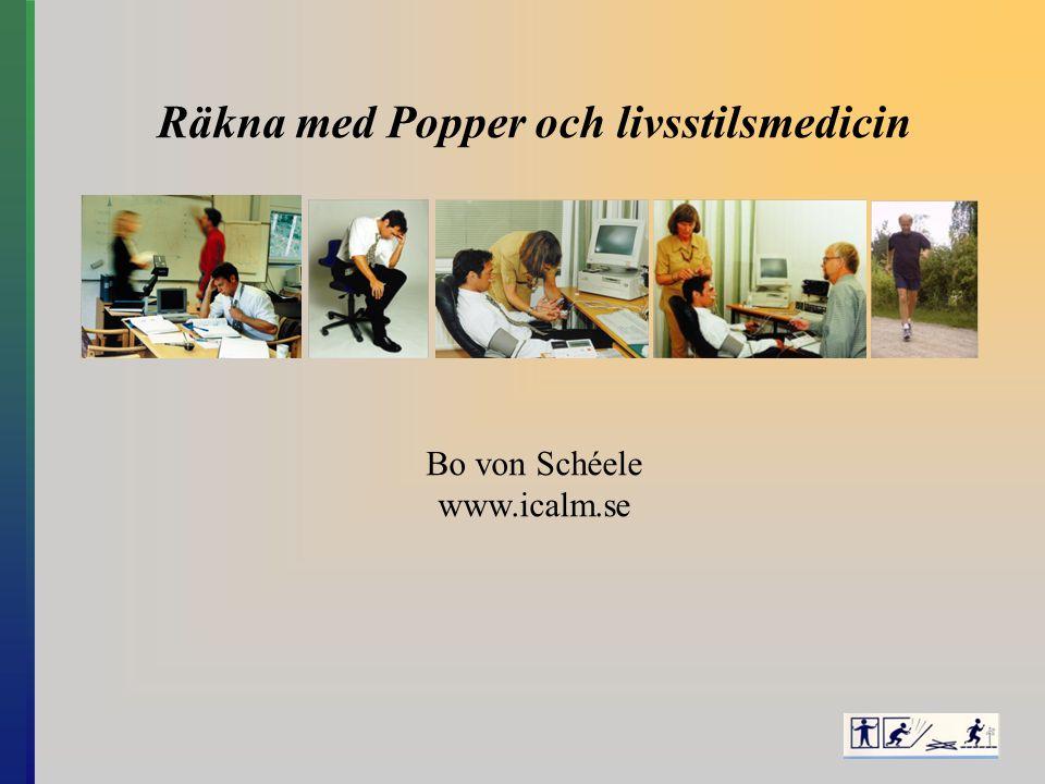 Räkna med Popper och livsstilsmedicin Bo von Schéele www.icalm.se