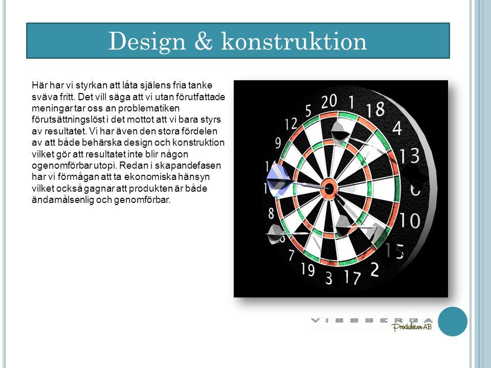 Design & konstruktion Här har vi styrkan att låta själens fria tanke sväva fritt.