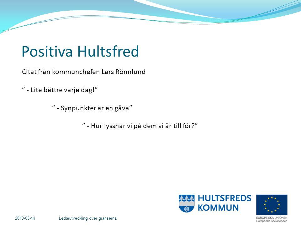 2013-03-14 Ledarutveckling över gränserna Hur kan Hultsfreds kommun effektivisera sin synpunktshantering.