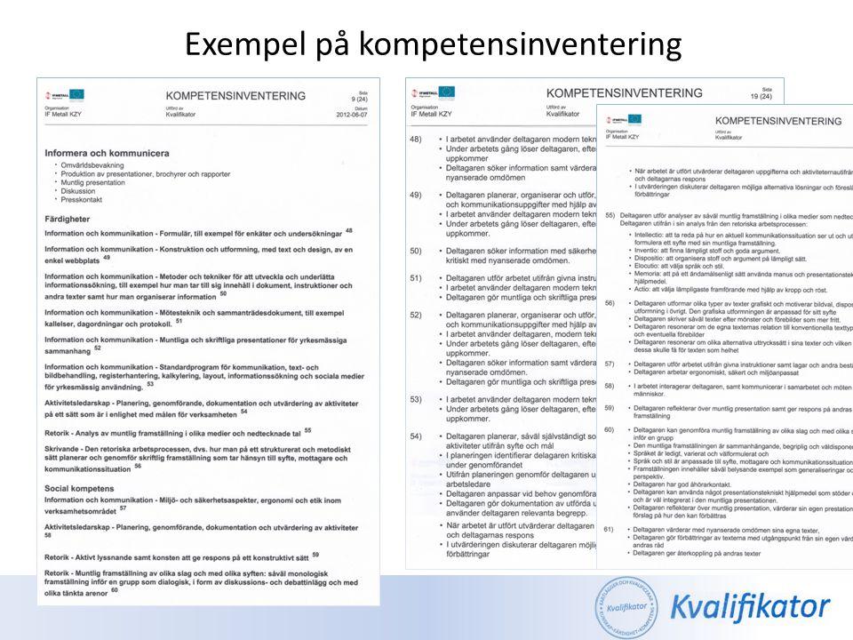 Individnära Kompetenskartläggning - Ett verktyg och en modell för att förutsättningslöst beskriva kvalifikationer i utbildningstermer