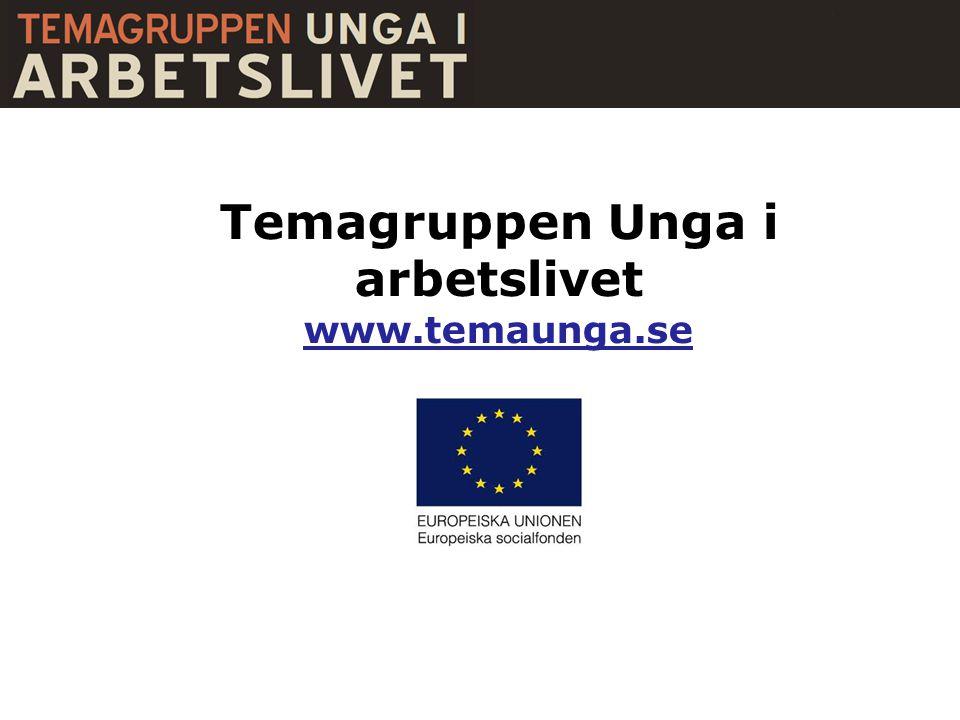 Temagruppen Unga i arbetslivet www.temaunga.se
