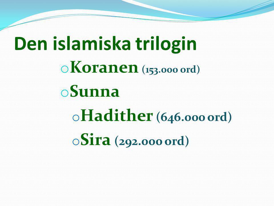 Budskapets tre punkter 1.Den som underkastar sig en av de 8 erkända rättsskolorna är muslim.