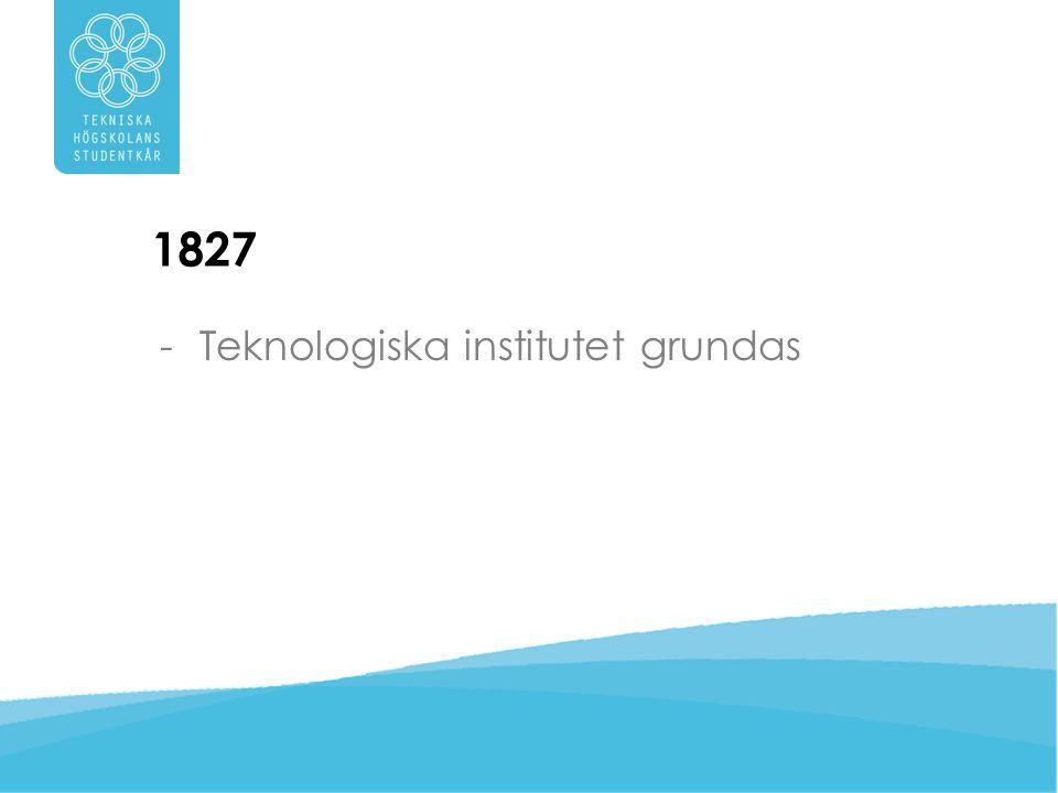 1877 -Kungliga Tekniska Högskolan uppstår ur det gamla Teknologiska institutet när Kung Oscar II ger skolan sitt namn i 50-årspresent.