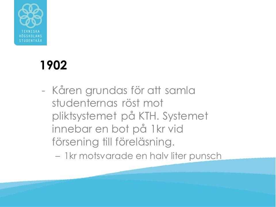 1903 -Motto beslutas – Till fredlig bragd – … målet för blivande ingenjörers strävanden borde ställas högt.
