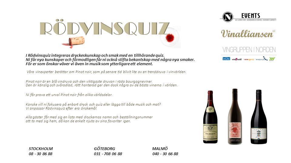 I Rödvinsquiz integreras dryckeskunskap och smak med en tillhörande quiz.